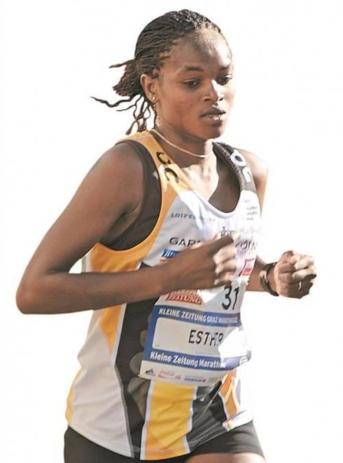 Esther Wanjiru Macharia wird bei einem Start beim Drei-Länder-Marathon den Damen-Rekord anpeilen. privat