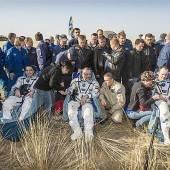 Nach 166 Tagen im All: Astronauten in Kasachstan gelandet