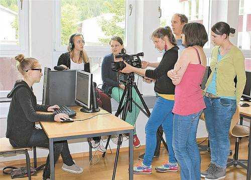 "Filmworkshop im Fach ""Kulturelle Bildung"" am BG Bludenz. Foto: Winkler"