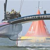 Team Oracle feiert das Segel-Wunder
