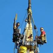 Nüziders: Kirchturmdach wurde neu eingedeckt