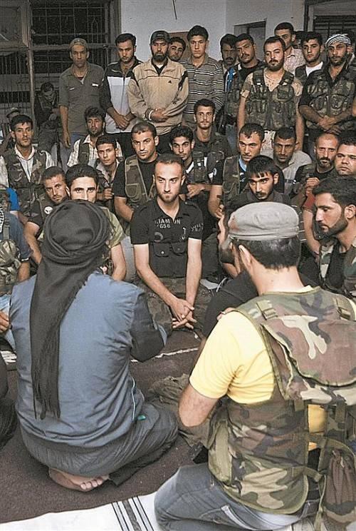 Freie Syrische Armee und Dschihadisten einigen sich . Foto: AP