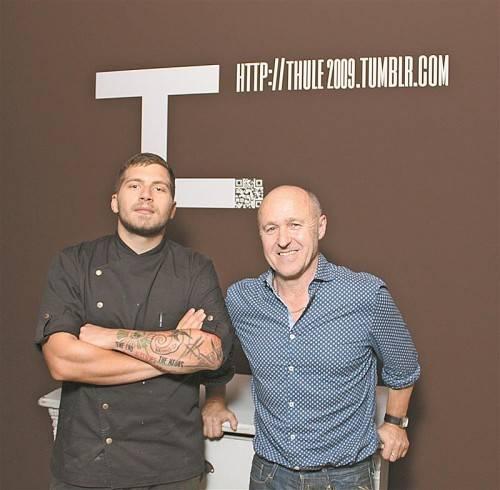 Gastronom Sigi Innauer (r.) mit seinem Koch Robert Eder. Foto: Zud