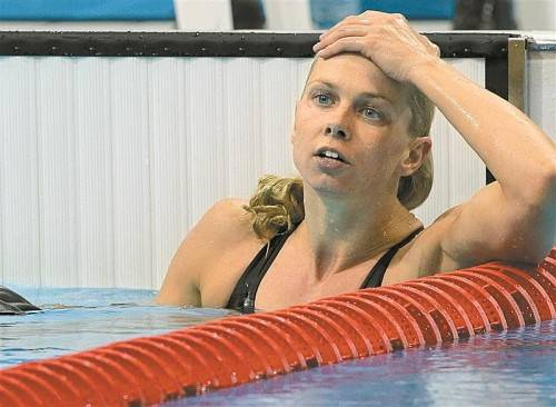 Genug geschwommen: Britta Steffen hört auf. Foto: apa