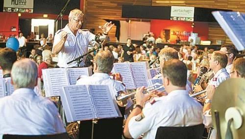 Gestern spielte die Polizeimusik Vorarlberg auf.