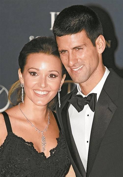Glückliches Paar: Novak Djokovic und Jelena Ristic. Foto: ap
