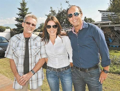 Gut gelaunte Festgäste: Werner Egger mit Elke Moosbrugger und Gerald Peter.  FOTOS: A. Kopf