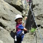 Hoch hinauf beim Kletterfest