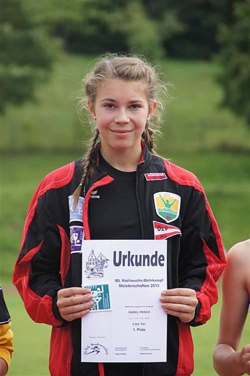 Holte sich den Mehrkampftitel in der U-14-Klasse: Isabel Posch. privat