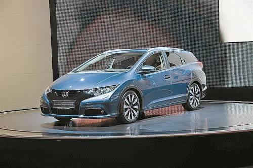 Honda zeigt in Frankfurt den Civic Tourer im Serientrimm als Messe-Weltpremiere.