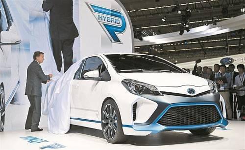 Hybrid extrem: Weltpremiere des 420-PS-starken Kraftzwergs Yaris Hybrid-R. Das Auto wird allerdings nie in Serie gehen.
