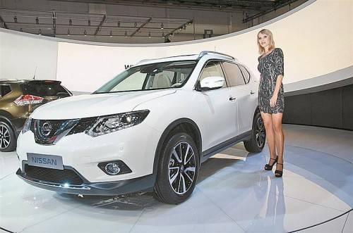 Im Mittelpunkt des Messeauftritts von Nissan steht die Neuauflage des X-Trail.