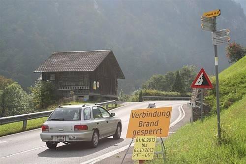 L 82 nach Brand ist drei Nächte lang für den Verkehr gesperrt. Foto: Em