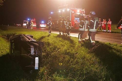 Lenker landete in Dornbirn mit 1,26 Promille im Graben. Foto: VOL/VLACH