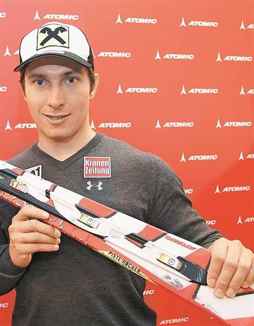 Marcel Hirscher: neuer Ski für die neue Saison. Foto: gepa
