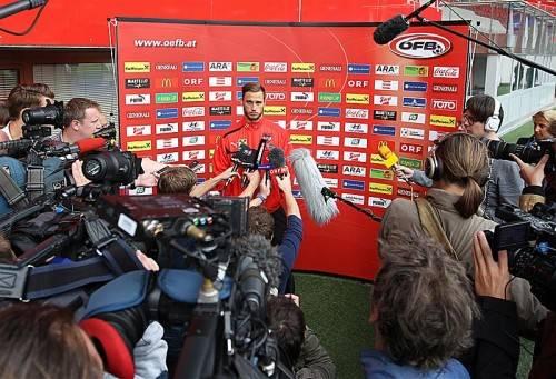 Marko Arnautovic stand gestern in Wien Rede und Antwort. Foto: gepa