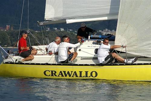 """Markus Bilgeri holte sich mit der """"Crawallo"""" beim One Design Cup vor Bregenz den Sieg in der X-99-Klasse. Foto: thüringer"""