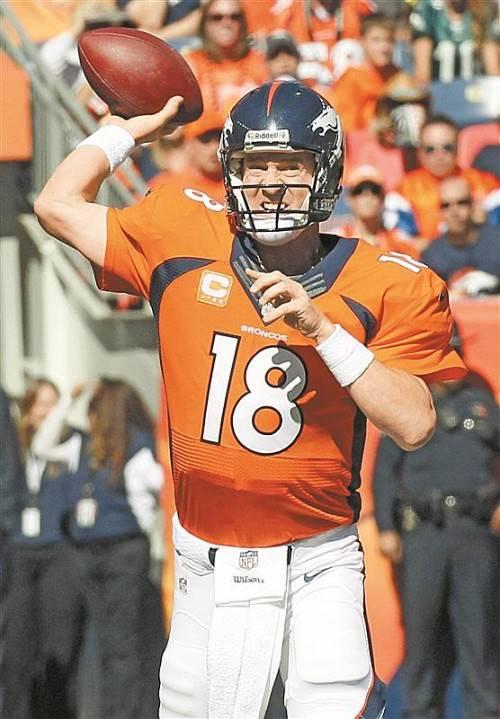 Neue Pass-Bestmarke in der NFL: Peyton Manning. Foto: ap