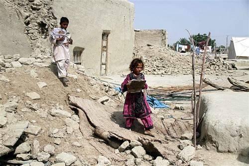 Nur wenige Tage nach dem verheerenden Erdbeben wurde die Provinz Baluchistan erneut von einem starken Beben heimgesucht. Foto: epa