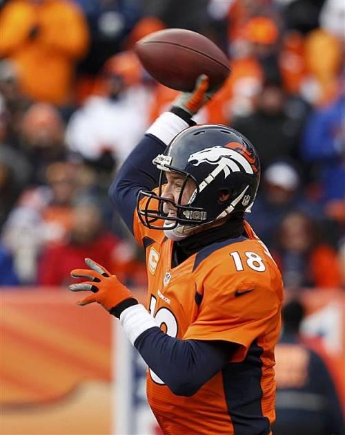 Peyton Manning und Co. empfangen die Baltimore Ravens. epa