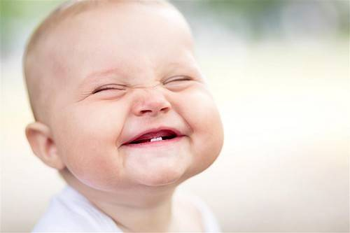 Portrait of beautiful smiling cute baby