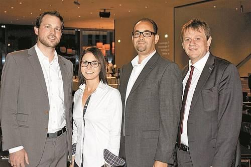 Referent Steffen Braun, Nina Giselbrecht, Niklas Keller und Stadtmarketing-Chef Christoph Thoma (v. l.). FOTOS: FRANC