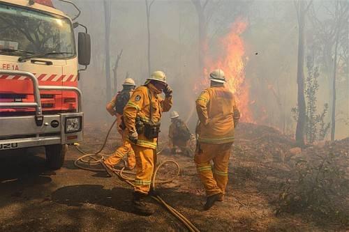 Sechs Feuerwehrleute wurden bei den Löscharbeiten verletzt.