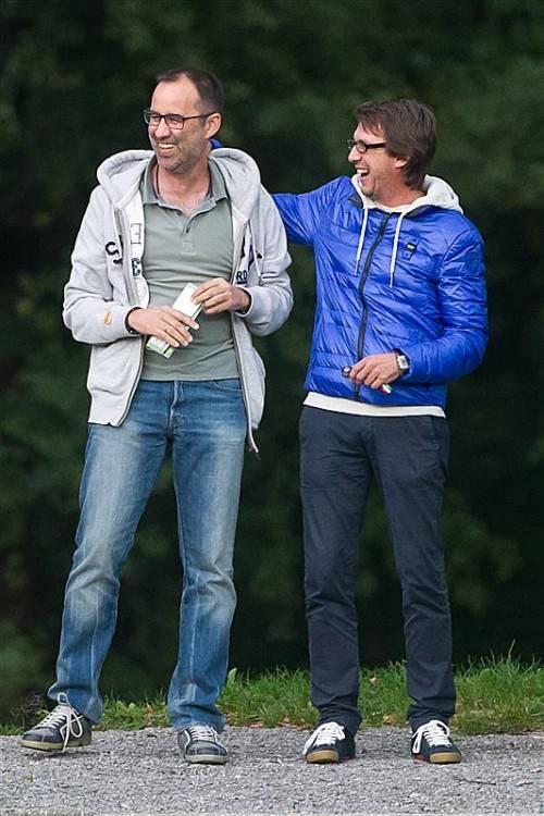 Sie drückten in der Jugend zusammen die Schulbank und spielten dann gemeinsam für die IG Bregenz/Dornbirn. Heute treffen Dieter Alge (r./Höchst) und Peter Jakubec (Dornbirn) als Gegner aufeinander. Steurer