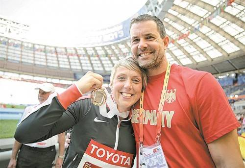 Speerwurf-Paar: Christina Ober-gföll und Boris Henry. Foto: apa