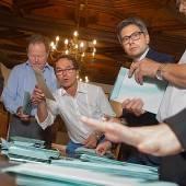 Betretene Gesichter bei der ÖVP in Dornbirn