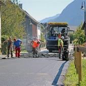 Nüziders: Beläge zweier Straßen wurden erneuert