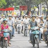 Mopeds in Ho Chi Minh Stadt