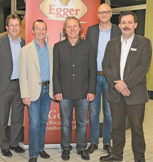 V. l.: Wolfgang Frick, Luis Weidinger, Hubert Berkmann, Markus Dietrich und Karlheinz Kindler.