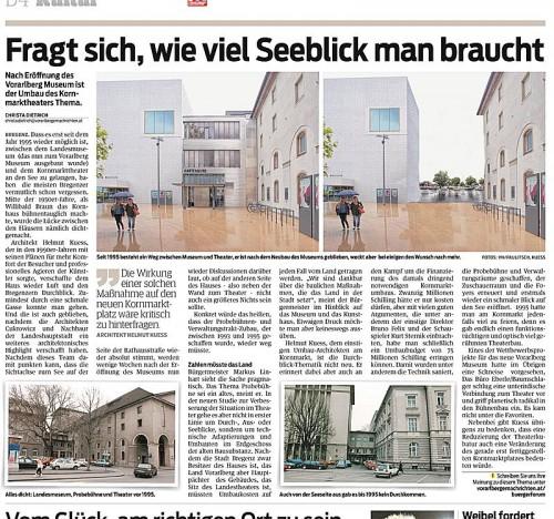 VN-Bericht vom 20. August: Der Umbau des Kornmarkttheaters ist auch im Hinblick der Seesicht ein Thema.