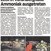 Ammoniakaustritt in der Vorarlberghalle