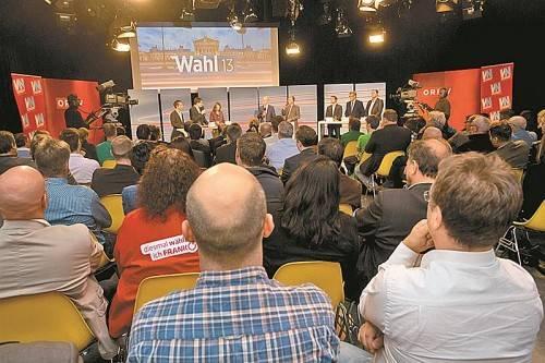 VN-ORF-Wahldiskussion am Dienstag: Wer den VN-Newsletter abonniert hat, kann über die Kandidaten abstimmen (siehe Artikel dazu). Foto: VN/Steurer