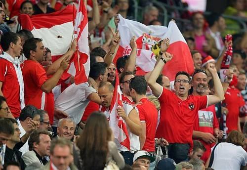 Vor dem Match herrschte unter den knapp 8000 mitgereisten Fans aus Österreich eine fantastische Stimmung. Foto: gepa