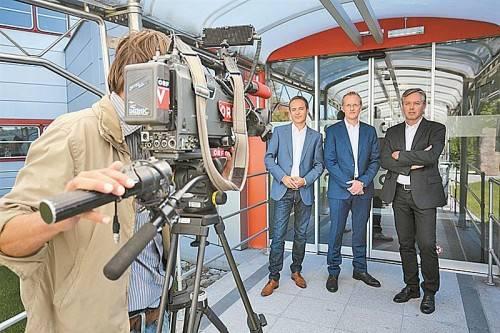 Werden Spitzenkandidatenrunden in Dornbirn und Nenzing moderieren (v. l.): Daniel Rein, Johannes Huber, Gerd Endrich. Foto: VN/Hartinger