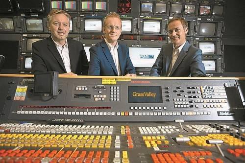 Werden die Spitzenkandidatenrunden moderieren (v. l.): Gerd Endrich (ORF), Johannes Huber (VN) und Daniel Rein (ORF). Foto: VN/Hartinger