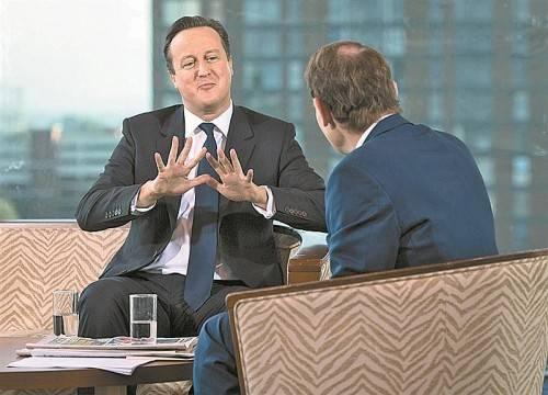 Will illegale Migranten und Kriminelle leichter abschieben können: David Cameron im BBC-Interview. Foto: Reuters