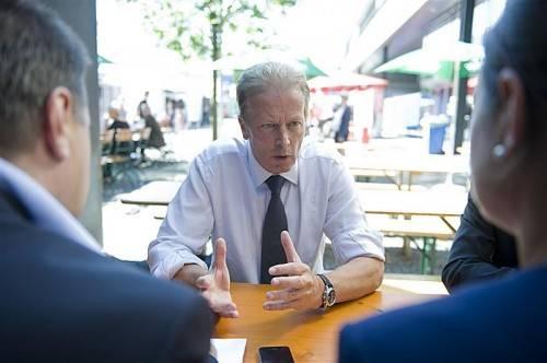 """Wirtschaftsminister Reinhold Mitterlehner: """"Vieles geht nicht einfach von heute auf morgen."""" Fotos: rhomberg"""