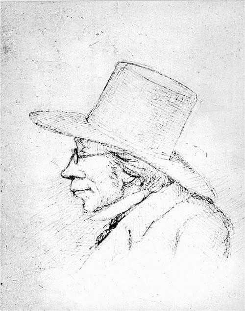 Zeichnung von Sören Kierkegaard. Foto: AP