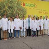Künftige Fachkräfte bei Rauch Fruchtsäfte