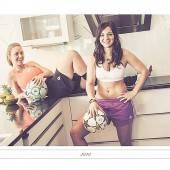 Zwischen Küche und Fußballplatz – Rankweils Fußballerinnen als hübsche Kalender-Mädchen