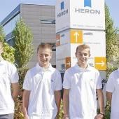 Heron startet mit vier neuen Lehrlingen