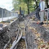 Bauarbeiten am Ortskanal liegen im Plan