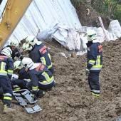 Arbeiter stirbt bei Erdrutsch