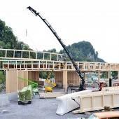 Halle für künftiges Altstoffzentrum im Bau
