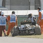 Vettel im Mercedes-Sandwich