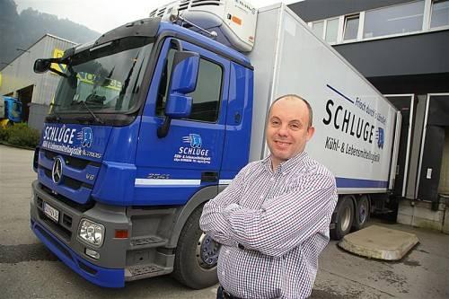 Logistiker Stefan Schluge (48) ist mit Kritik an seinen Bauplänen konfrontiert. VN/HB